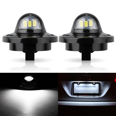 EEEkit License Plate Light, 2 pack Xenon White LED License Plate Lamp Assembly For Ford F-150 F-250 F-350 F-450 F-550 Superduty Pickup Truck Ranger Explorer Expedition Excursion Lincoln Bronco
