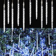 144 LED 30cm 8 Tube Meteor Shower Rain Snowfall Light Christmas Tree Garden Outdoor Decoration-5/2/1Pcs