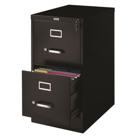 Hirsh industries 2 drawer letter file cabinet in black for 22 deep kitchen cabinets