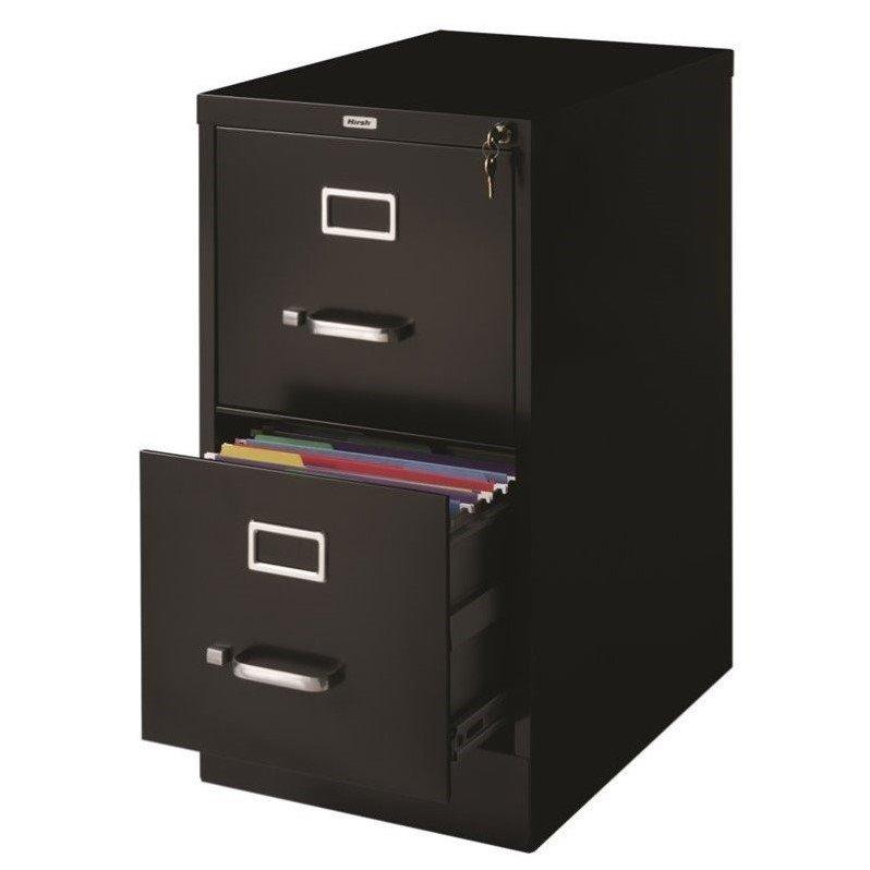 ... Hirsh Industries 2 Drawer Letter File Cabinet in Black