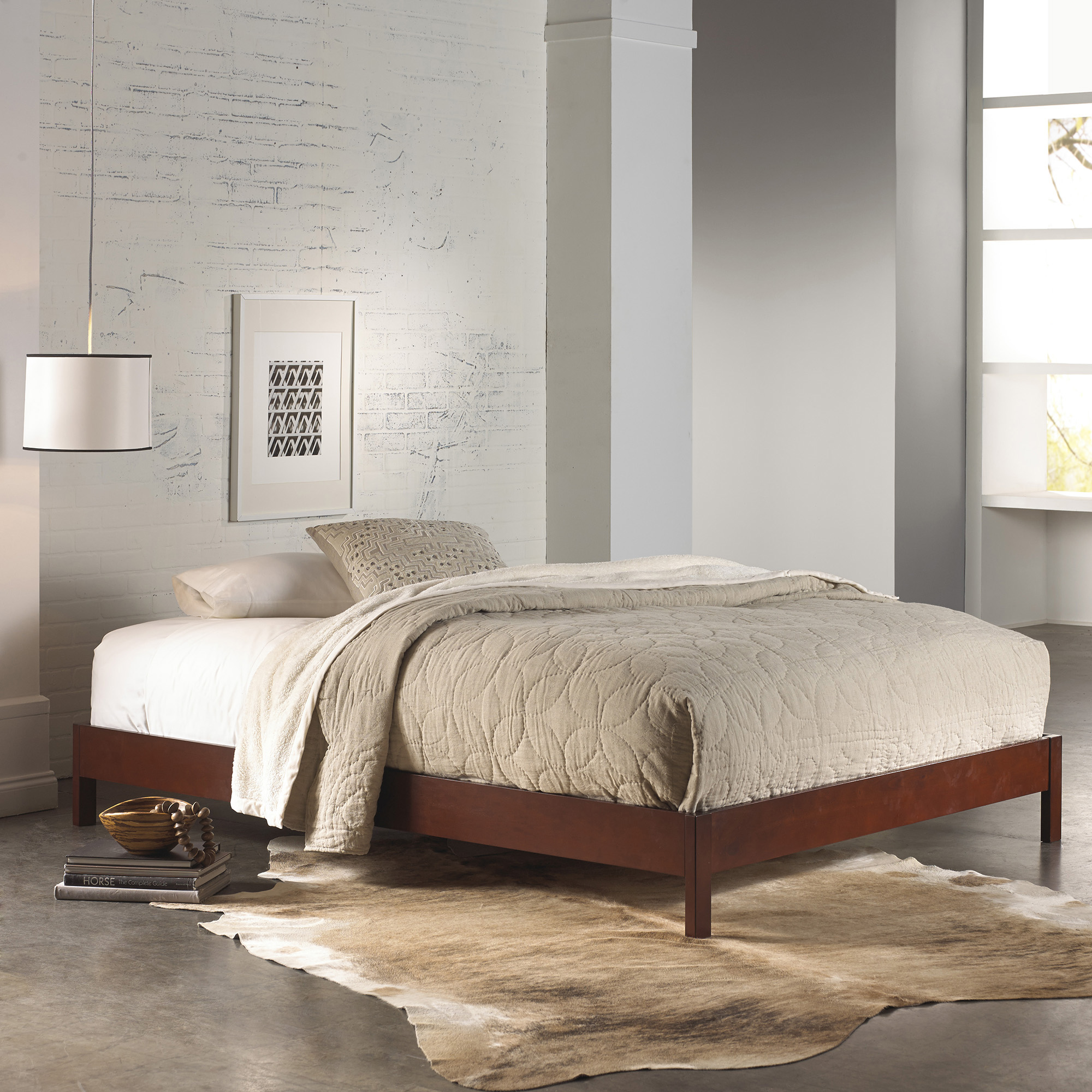 Fashion Bed Group Murray Complete Platform Bed, Multiple Sizes and Finishes