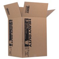 Duck Heavy-Duty Moving/Storage Boxes, 18l x 18w x 24h, Brown