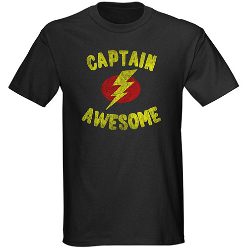 Cafepress Big Men's Capt. Awesome Graphic Tee