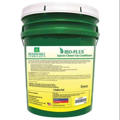 RENEWABLE LUBRICANTS 80424 Gas Injector Cleaner, Gas, 5 Gal Pail