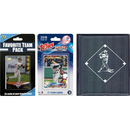MLB New York Yankees Licensed 2018 Topps® Team Set and Favorite Player Trading Cards Plus Storage Album