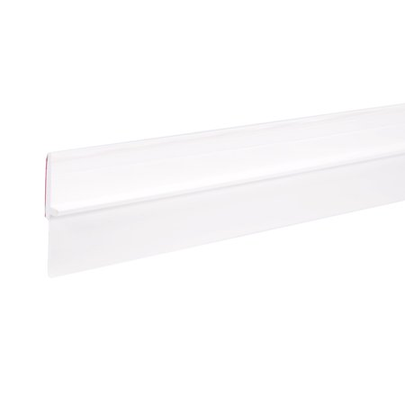 1-1/2-inch x 39-inch PVC Door Sweep Bottom Seal Strip White - image 4 of 4