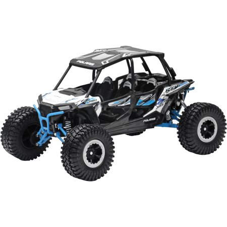 New Ray Toys Polaris RZR 4 Turbo XP 1:18 Rock Crawler White Lightning 57976A - Rock Toys