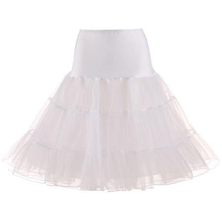TOPTIE Women's Vintage Rockabilly Petticoat Skirt Tutu 1950s Underskirt Bridal Party Cosplay - Studded Vintage Skirt