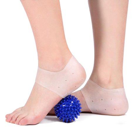 Plantar Fasciitis Gel Heel Protectors Foot Heel Pads Kit- 5Pcs,Plantar Fasciitis Metatarsal Pain Gel Heel Sleeve Silicone Gel Heel
