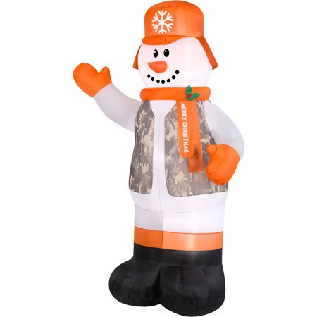Gemmy Airblown Inflatables Christmas Inflatable Hunter Snowman, 7'