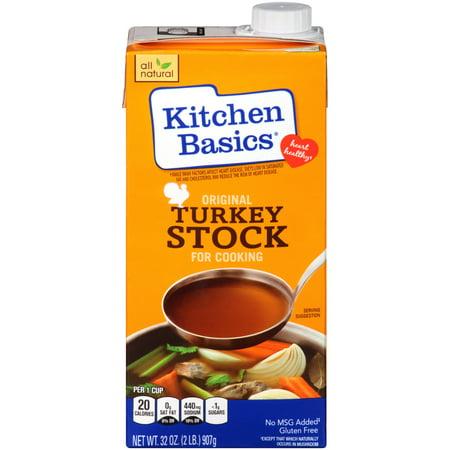 (2 Pack) Kitchen Basics Original Turkey Stock, 32 fl oz (Turkey Stock)