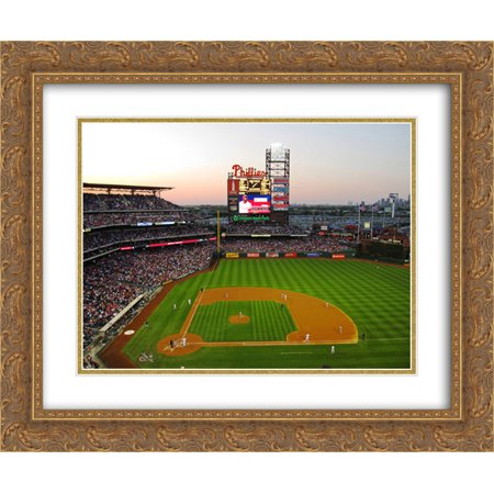 Citizens Bank Park 2X Matted 24X20 Gold Ornate Framed Art Print From The Stadium Series