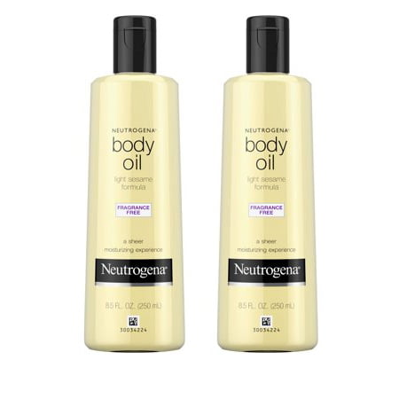 (2 pack) Neutrogena Moisturizing Light Sesame Body Oil, Fragrance-Free, 8 fl. (Best Body Oil Fragrance)