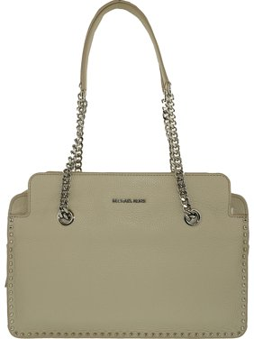 ae25bab886 Product Image Michael Kors Women's Large Astor Leather Satchel Top-Handle  Bag - Cement