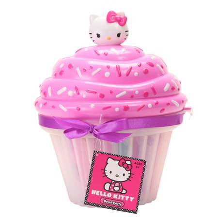 Hello Kitty Bead Party Cup Cake Shape Jewelry Crafting Kit 49312 - Hello Kitty Cake Kit