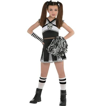 Ra Ra Rebel Cheerleader Girls Child Small 4-6 - Black Girl Cheerleader