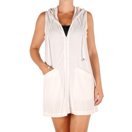 cb5b0f17ee165 Catalina - Women's Terry Zip-Front Swim Cover-Up - Walmart.com