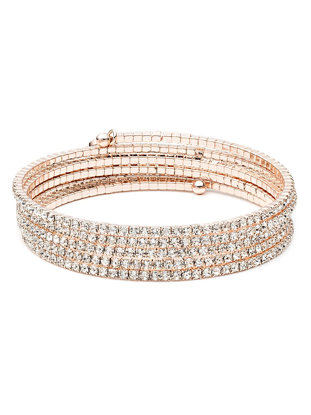 Rose Goldtone Multi-Strand Bangle