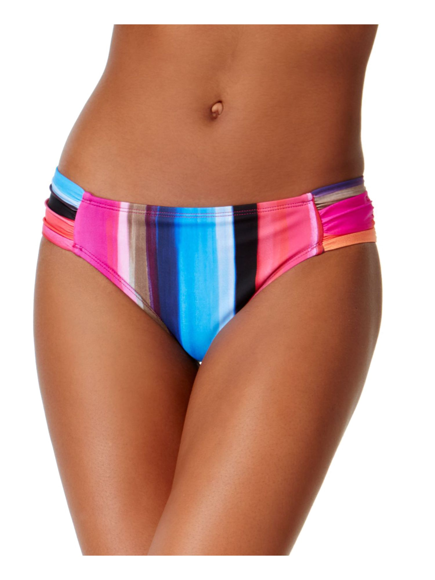 La Blanca Womens Over The Horizon Side Shirred Hipster Bikini Bottoms