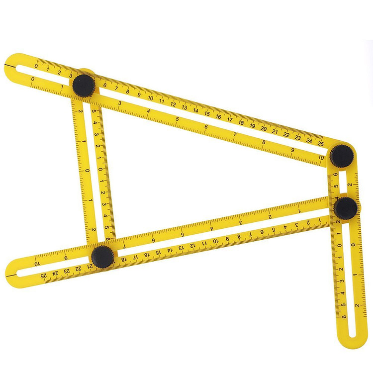 Oak Leaf Yellow Angle Measurement Tool � Angleizer & Flooring Template Measure Ruler and Layout... by