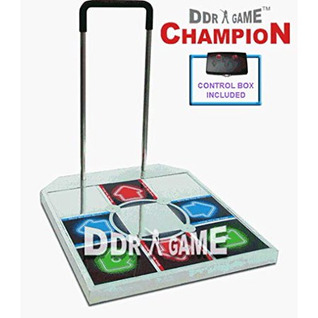DDR Champion Arcade Metal Dance Pad w/ Handle Bar for PS / PS2 M03796