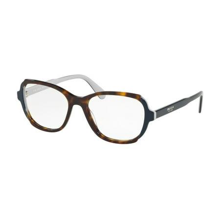 PRADA 0PR 03VV - HERITAGE HAVANA/TOP BLUE/GREY Woman (Prada Optical Sunglasses)