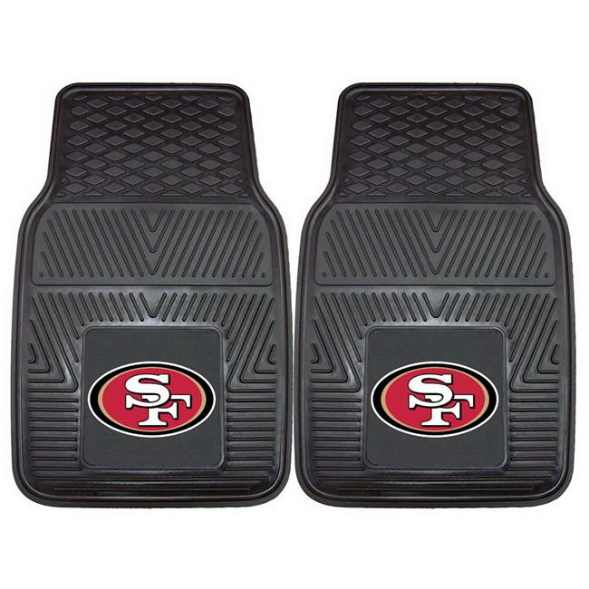 San Francisco 49ers Car Mats Heavy Duty 2 Piece Vinyl