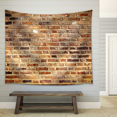wall26 - Industrial Brick Wall Best Background Texture Close - Fabric Wall Tapestry Home Decor - 68x80