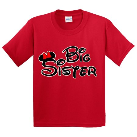 New Way 554 - Youth T-Shirt Mickey Mouse Big (Biggest Sister Big Sister Little Brother Shirts)