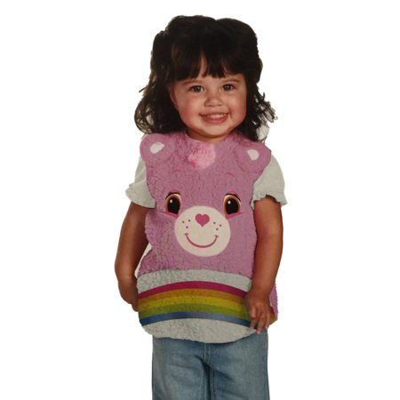 Care Bear Infant Toddler Girl Plush Pink Cheer Bear Costume Pull-over Vest - Toddler Care Bear Costume