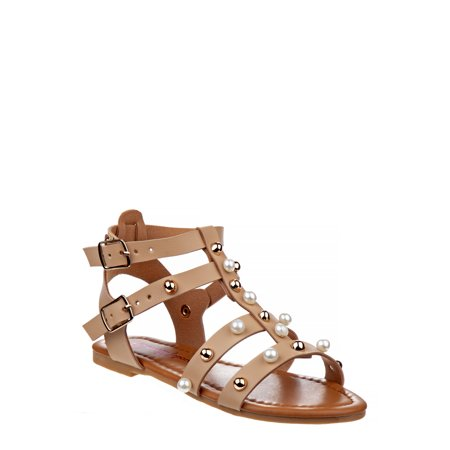 NANETTE Nanette Lepore Studded Pearl Gladiator Sandals (Little Girls & Big Girls)
