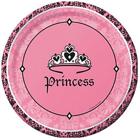 1st Birthday 'Royal Princess' Large Paper Plates - Princess First Birthday