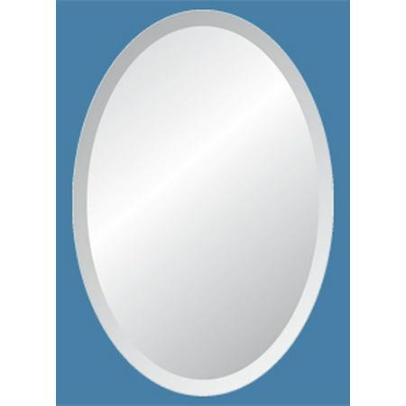 24 X 48 Oval Frameless Mirror With Polished Beveled Edges Com