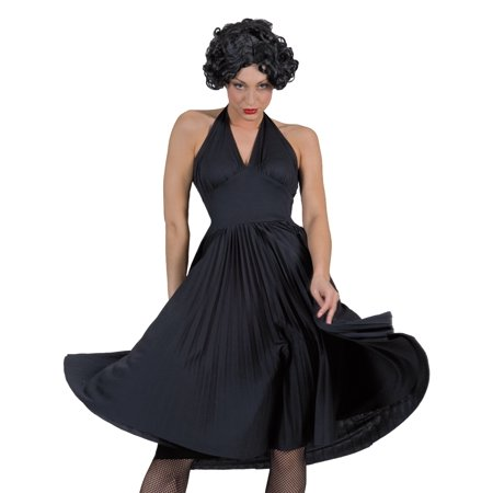 Funny Fashion Sexy Marilyn Monroe Movie Star Halloween Costume Black Dress for $<!---->