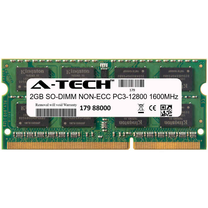 2GB Module PC3-12800 1600MHz NON-ECC DDR3 SO-DIMM Laptop 204-pin Memory Ram