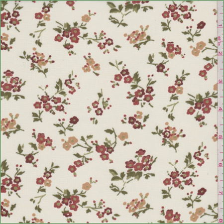 Pale Yellow Floral Bouquet Georgette, Fabric By the Yard (Pale Yellow Fabric)