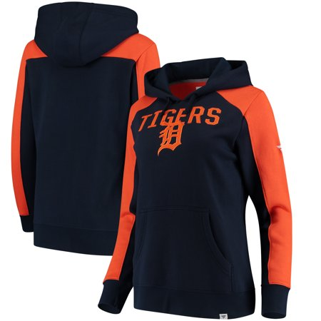 Detroit Tigers Fanatics Branded Women's Iconic Pullover Hoodie - Navy/Orange ()