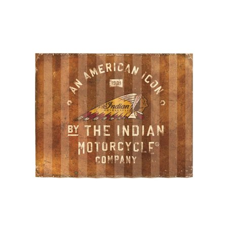 Indian Motorcycle American Icon Corrugated Metal Garage Sign