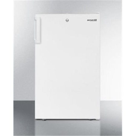 """FS407LADA 20"""" ADA Compliant Compact Freezer with 2.8 cu. ft. Capacity  Factory Installed Lock  Manual Defrost and Adjustable Thermostat  in White"""