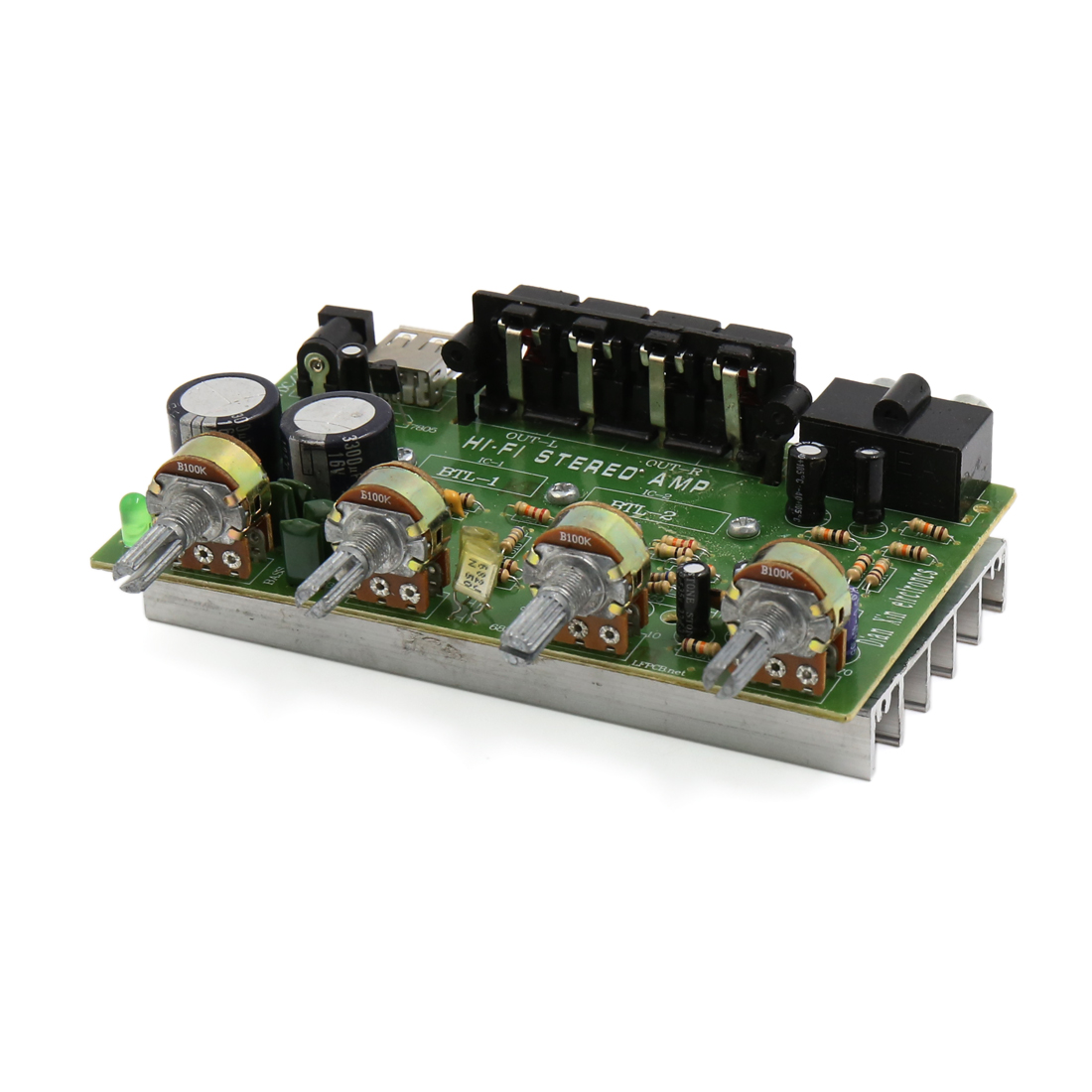 DC 12V-15V 200W Hi-Fi Audio Stereo Power Amplifier Board for Motorcycle Car