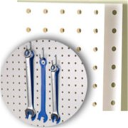 DIY Industries 15-1905-2448-601 Pegboard - White PP, 24 x 48 x 14 inch
