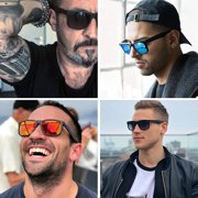 Polarized Sunglasses for Men and Women,UV Protection Rectangular Sun Glasses 8806 - image 6 of 6