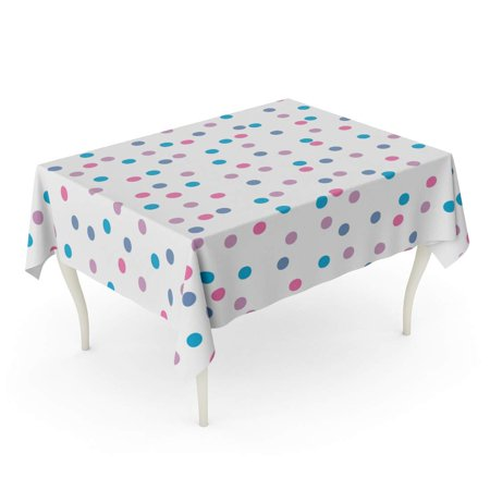 JSDART Blue Abstract Color Polka Dots Pattern Colorful Abstract Beautiful Children Tablecloth Table Desk Cover Home Party Decor 60x84 inch - image 1 de 1