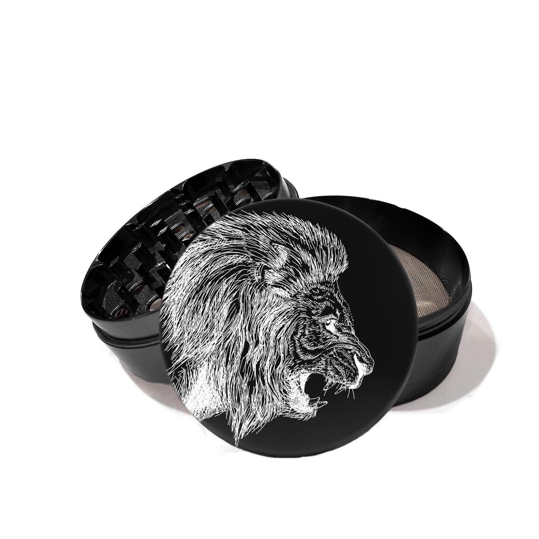 African Lion - Laser Etched Grinder
