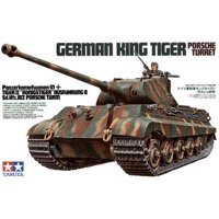 Tamiya 35169 WWII German King Tiger Porsche Turret 1/35 Scale Plastic Model Kit