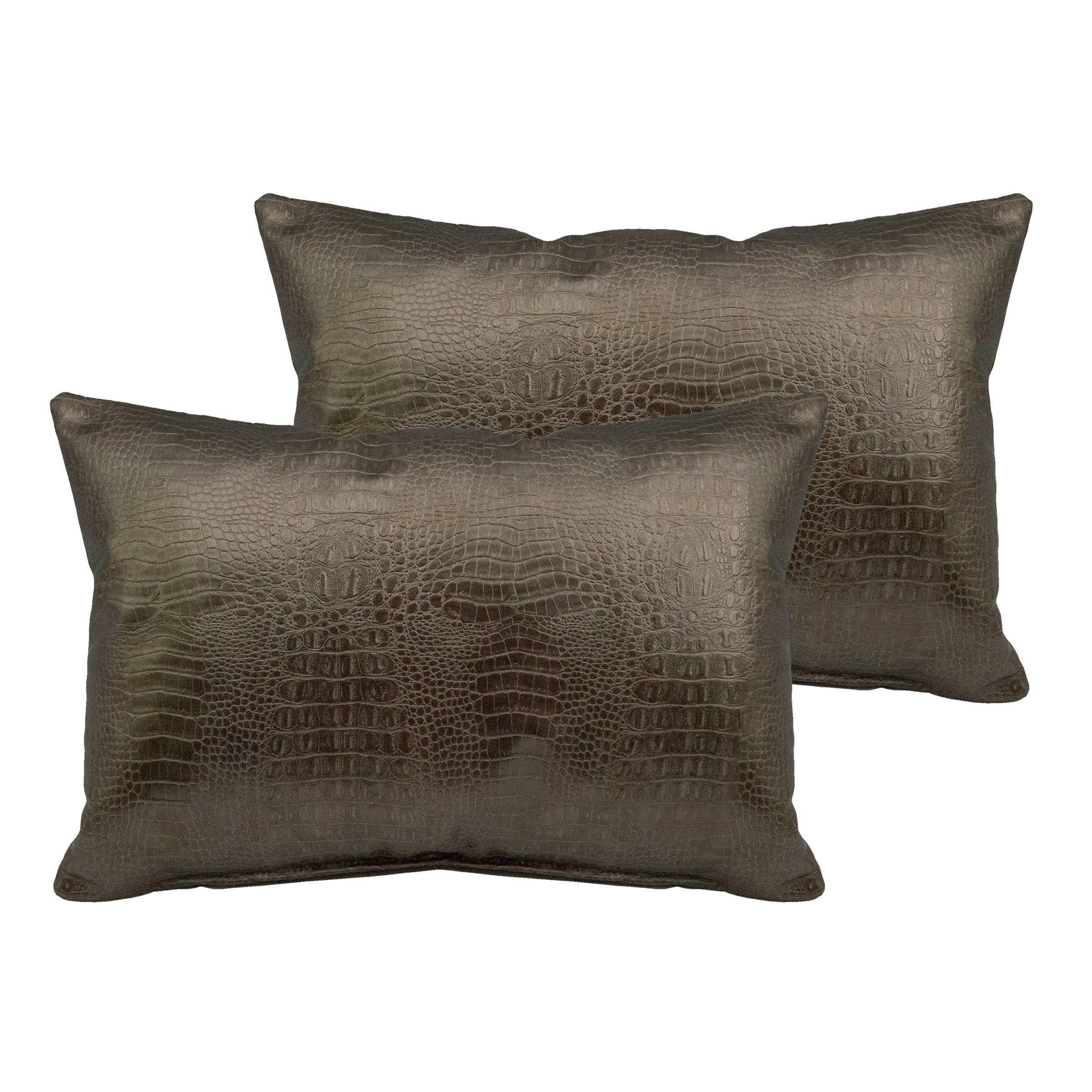Sherry Kline  Gator Faux Leather Boudoir Pillow (Set of 2)