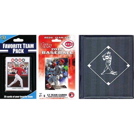 C&I Collectables MLB Cincinnati Reds Licensed 2016 Topps Team Set and Favorite Player Trading Cards Plus Storage - Halloween Stores In Cincinnati
