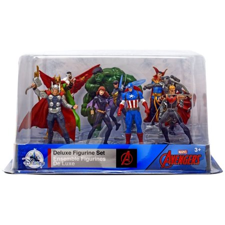 Marvel The Avengers 10-Piece PVC Figure Play Set [Falcon, Loki, Thor, Black Widow, Captain America, The Wasp, Hawkeye, War Machine, Doctor Strange & Hulk] - Captain America And Black Widow