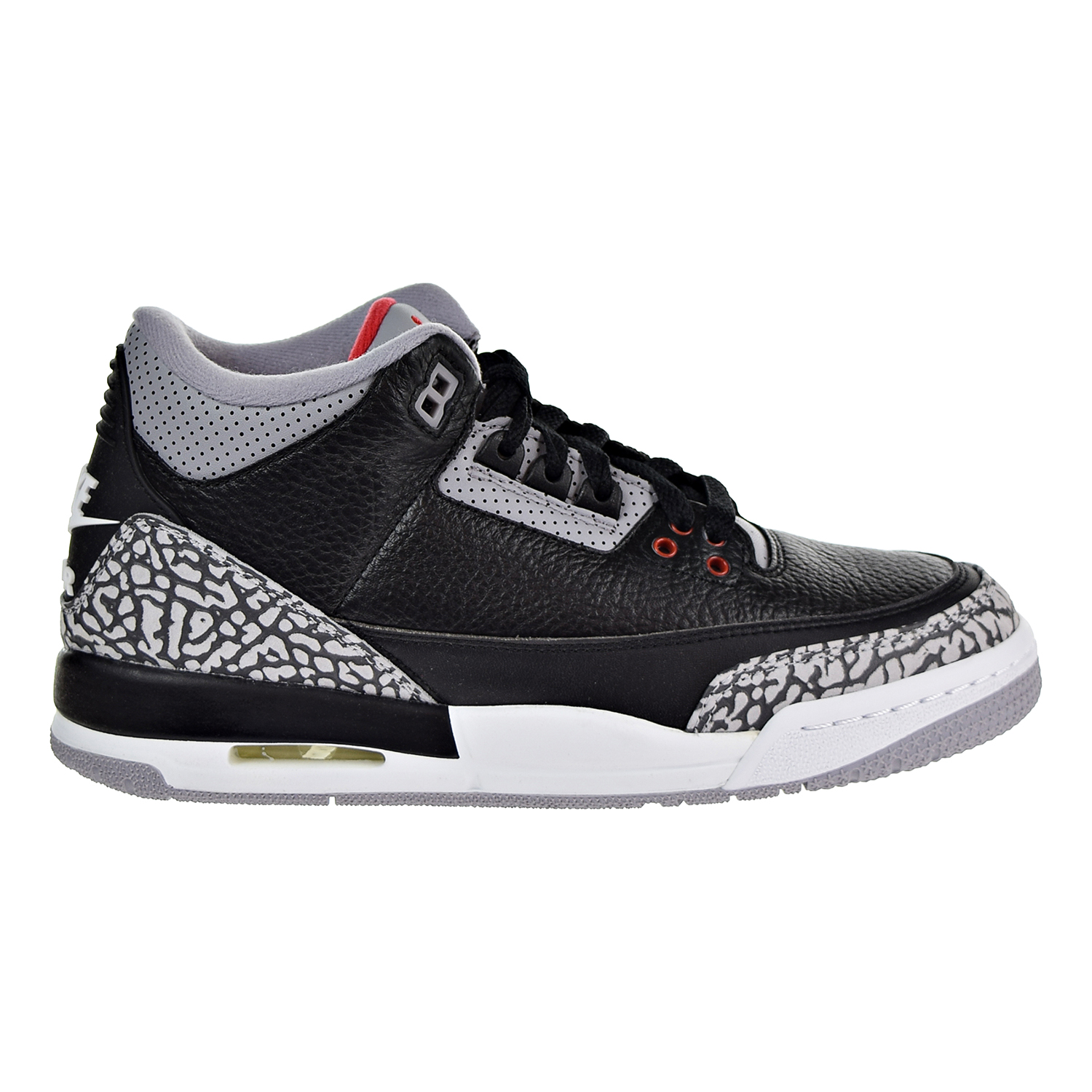 Air Jordan 3 Retro OG Big Kids' Basketball Shoes Black/Fire Red/Cement Grey 854261-001
