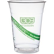 Eco-Products GreenStripe Cold Cup - 16 fl oz - 50 / Pack - Clear, Green - Plastic - Cold Drink